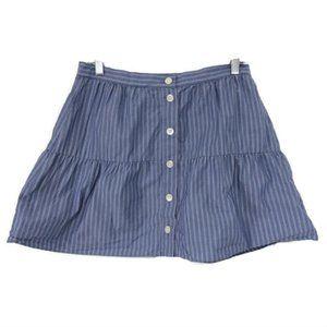 Madewell Bistro Stripe Skirt Blue White Skirt